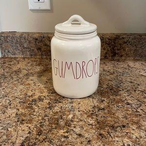 Rae Dunn White Gumdrops baby canister